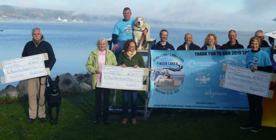 Three area animal organizations have benefited from the Finger Lakes Open Water Swim Festival, which was the weekend of Sept. 21 on Seneca Lake in Watkins Glen. The fundraising event was organized by Bridgette Hobart and Bob Janeczko.