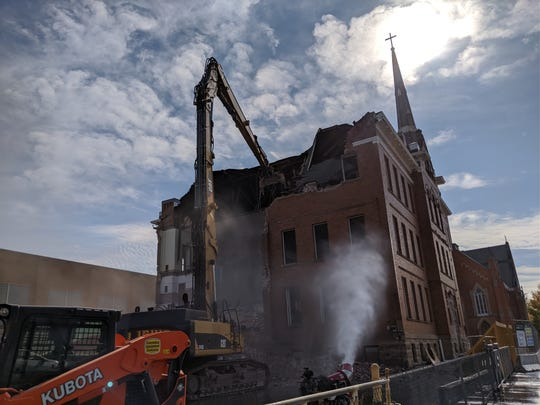 St. Joseph's School razed after 111 years to make way for parking lot.