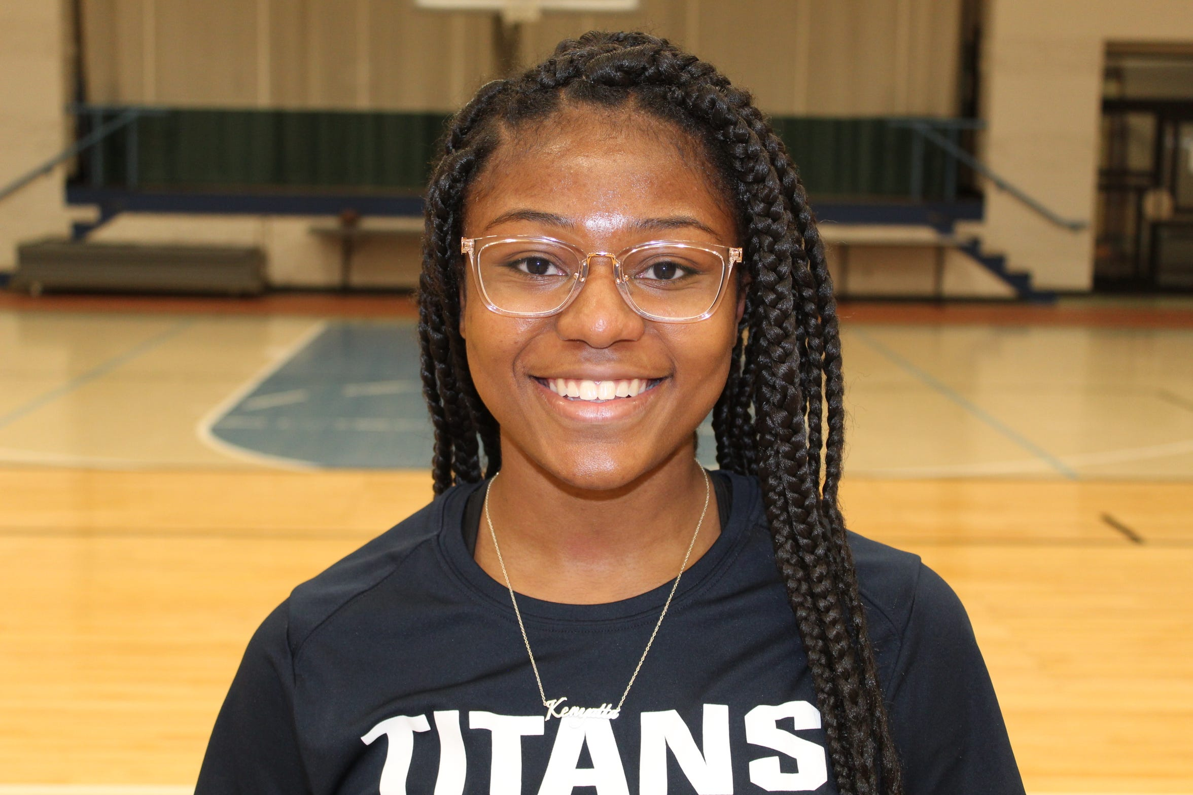 Kenyatta Thomas, a freshman from Pensacola, Fla, is one of Terra State Community College's first-year volleyball players.