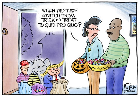 Trick or treat becomes quid pro quo.