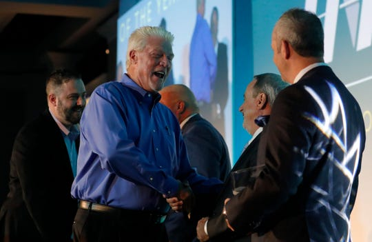 Bill Miller, with AXI International, receives the award for Innovator of the Year during the 2019 Industry Appreciation Awards hosted by the Horizon Council, Horizon Foundation and Lee County Economic Development Office Friday, Oct. 25, 2019. The awards celebrate the Lee County business community and recognize the great work of local businesses and the positive impact they have on Southwest Florida.  Winners also included: Markham Norton Mosteller Wright & Co. for Community Steward of the Year; Creative Architectural Resin Products (CARP) for Startup of the Year; My Shower Door/D3 Glass Manufacturer of the Year; Edison National Bank for Small Business of the Year; and Scotlynn USA Division Large Business of the Year.
