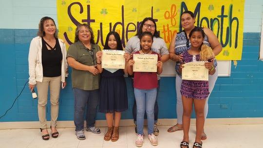 The Guahan Academy Charter School honored its September Student of the Month awardees on October 17. Front row: Riana Rechy; Taliana Kanai and Lillyanna Quitugua. Back row from left: Lynda Hernandez-Avilla, Mary Mafnas, Ritacia Fegurgur and Ashlynn Manuel.