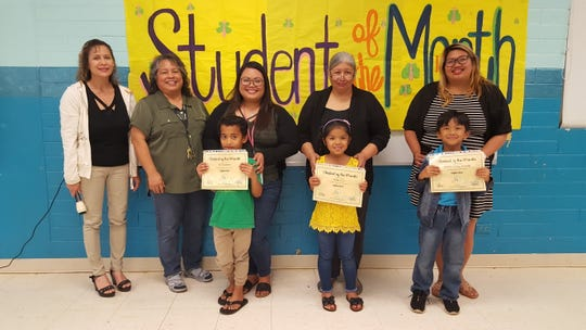 The Guahan Academy Charter School honored its September Student of the Month awardees on October 17. Pictured in front row: Ban Kasimiro; Haly Cruz and Paschal James Procalla.  Pictured from left, back row: Lynda Hernandez-Avilla, Dean of Secondary  Guahan Academy Charter School; Mary Mafnas, Dean of Elementary Guahan Academy Charter School; Jovina Munoz; Doria Villagomez and Nikki Java.