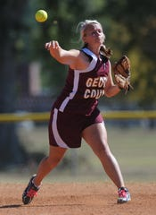 This 2010 photo shows the Brandon vs. George County MHSAA slow-pitch softball championship