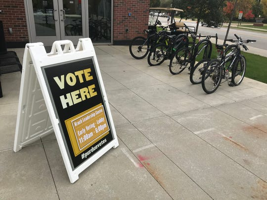 Purdue's second early voting location was in Krach Leadership Center Oct. 25, 2019 from 11 a.m. to 6 p.m.