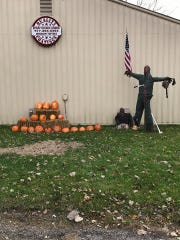 This Halloween display outside of Quality Coatings in Fowlerville shown on Thursday Oct. 24, 2019 caused community outcry.
