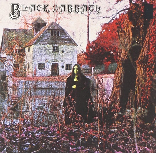 Cover of Black Sabbath's 1970 debut album, 'Black Sabbath.'