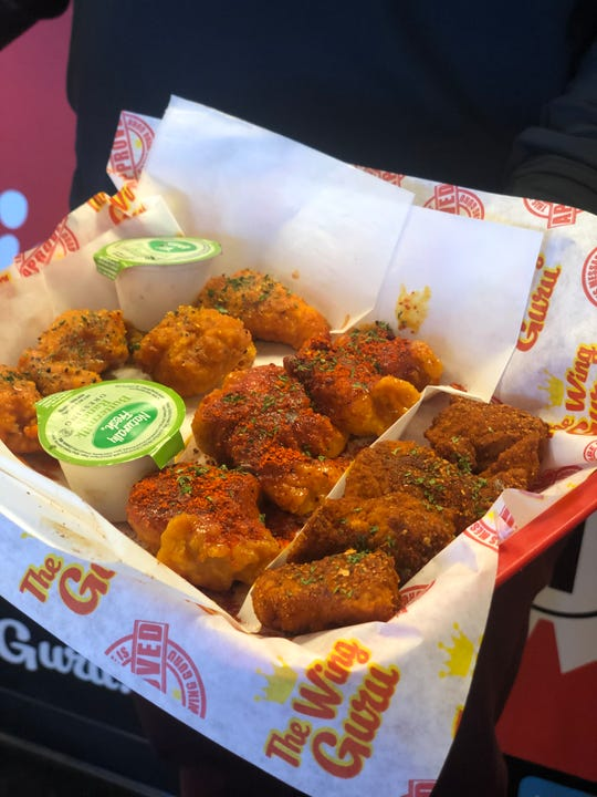 Boneless wings at The Wing Guru. The restaurant has 21 flavors of wings, with more in the works.