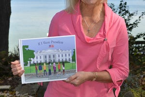 "Elaine Hills of Oconomowoc wrote ""If I Were President,"" a children's book published through Orange Hat Publishing in Waukesha."