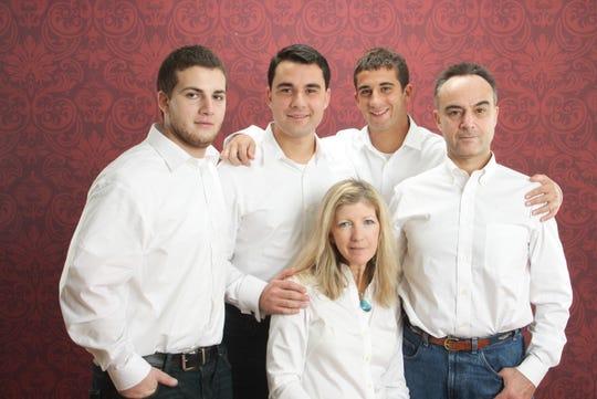 The Quadrel family portrait (left to right) Steven, Ryan, Chris, Mark and Wanda Quadrel (sitting).