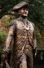 Following the unveiling of a statue dedicated to Montgomery's namesake, General Richard Montgomery, at Lister Hill Plaza in Montgomery, Ala., on Friday October 25, 2019.