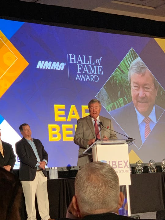 Earl Bentz, founder of Caymas Boats in Ashland City, was inducted into the National Marine Manufacturers Association Hall of Fame.