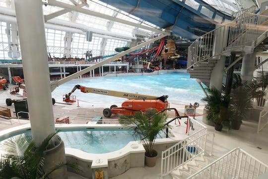 The water park that doesn't open until November 27th but  can be seen during opening day for American Dream, a retail mall and entertainment park in East Rutherford, NJ on October 25, 2019.