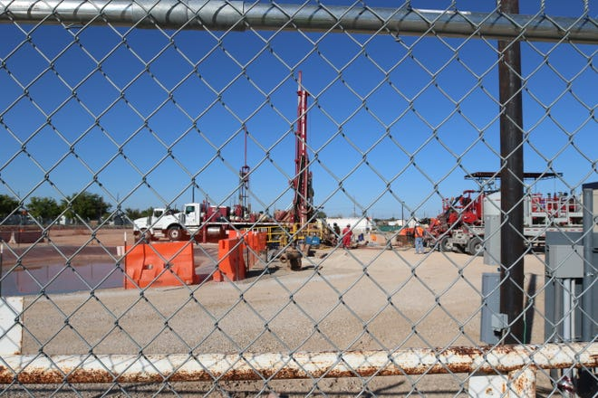 Drilling activity at the Carlsbad Brine Well has been going on since Sept. 30.