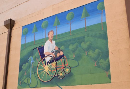 This Art in the Alley mural adorns the north side of the building that houses The Arc of San Juan County at 200 W. Broadway Ave. in downtown Farmington.