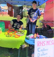 MESA students from Ruidoso High School manned a booth at Aspenfest in Wingfield Park earlier this month, where they sold collars and raised over $300 for shelter animals.