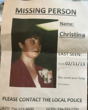Kathleen Wilson shared a flyer from when her daughter went missing on Feb. 11, 2013.