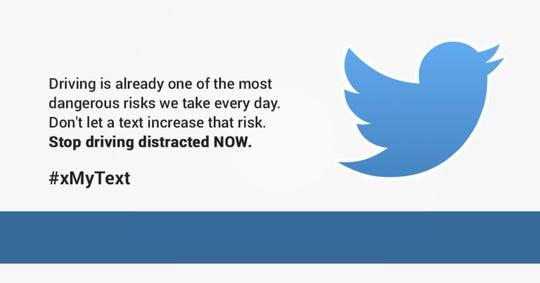 The winning tweet designed by Olivia Zack.