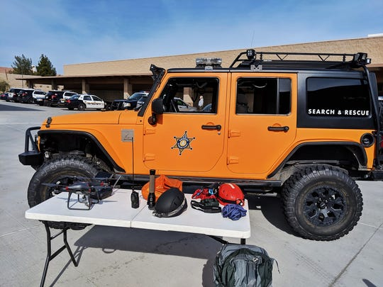 Riverside County Desert Sheriff's Search and Rescue -- DSSAR -- rescued two hikers lost in the area of the Bernardo Way trail head in Desert Hot Springs on Thursday, October 24, 2019.