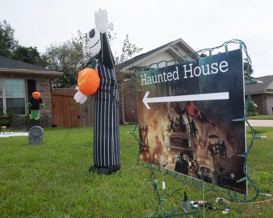 The home of Justin Johnston is decorated and ready for Halloween. Johnston and his extended family are inviting the public to visit their haunted house on Jade Moon Circle this year.