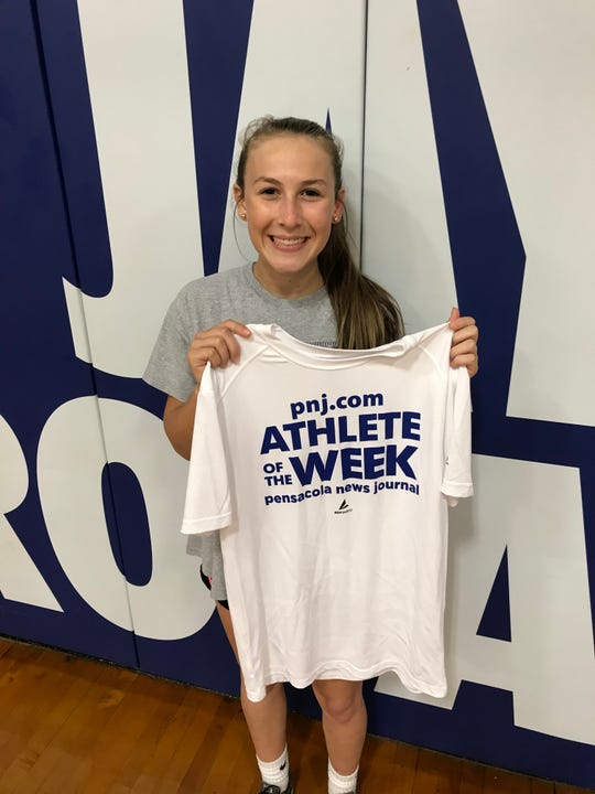 Jay High freshman Caitlyn Gavin is the latest PNJ Athlete of the Week. Gavin stepped up to play libero after an injury and has helped the Royals in a record season.