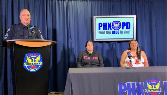 Shannon and Shirley Vivar recounted during a press conference Thursday their experiences from an Oct. 14 crash that spared the lives another family crossing the street at the time.