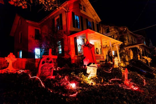 """Scenes from the """"Nightmare On Main Street"""" Halloween display in Annville."""