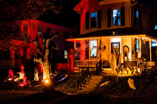 Annville Home S Halloween Decorations Spook Some Residents