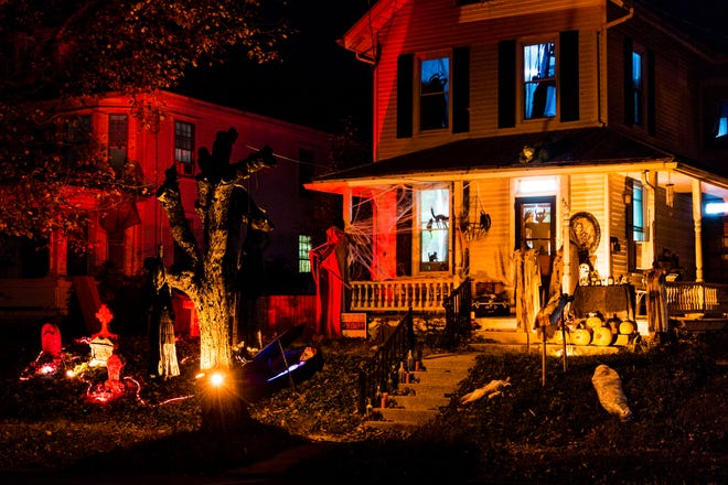 "Scenes from the ""Nightmare On Main Street"" Halloween display in Annville, which has garnered plenty of feedback both positive and negative for the community."