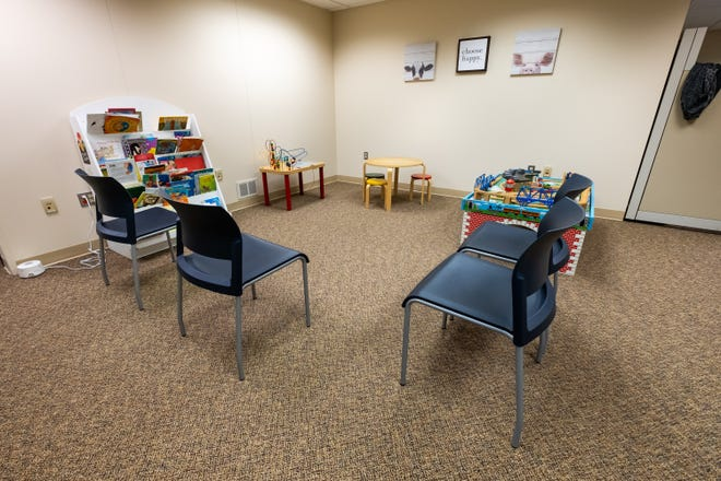 Toys for kids to play with are available in the waiting area at St. Clair County Community Mental Health's new facility.