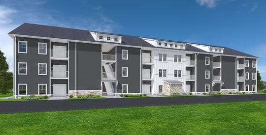 Artist rendering of the Riverside Foundry apartment and townhomes complex in Marietta. Construction on the project began on Oct. 2019. The residential community is expected to open in summer 2020.