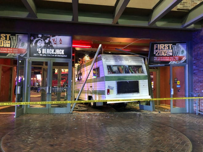 A 50-year-old woman is likely to face an attempted murder charge after she drove her Winnebago motorhome into the Cannery casino and ran over an elderly custodian, according to authorities.