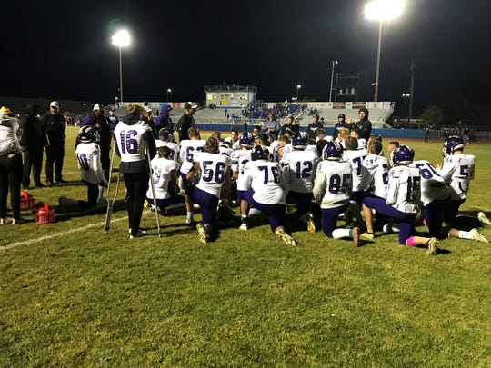 Spanish Springs coach Rob Hummel talks to the team after Thursday's game.