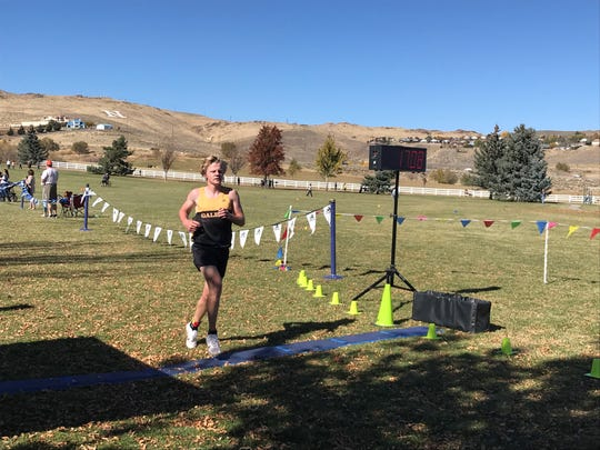 Galena junior Matthew Gordon won the boys Sierra League cross country race on Friday in 17:07.