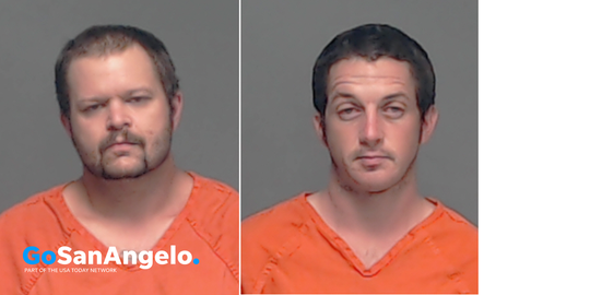 Arrest photos of David Pruitt (left) and David Pool (right).