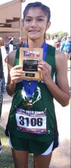 Cornerstone Christian School's Lesli Salas was the Class 1A girls individual champion at the TAPPS Cross Country Championships Oct. 21, 2019, in Waco, Texas.