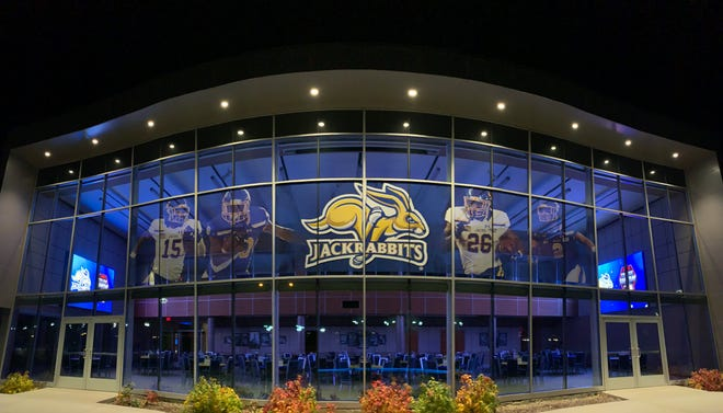 Sioux Falls-based marketing firm HenkinSchultz created a massive mural placed on the Alumni Center on the campus of South Dakota State University. The SDSU Foundation commissioned the display ahead of ESPN's College GameDay's arrival to Brookings.