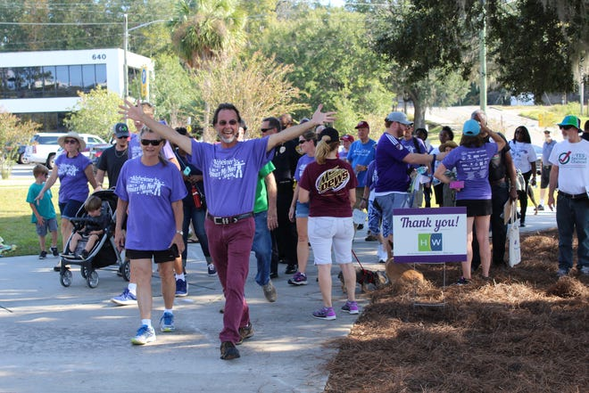 This year's Forget Me Not Walk, shown here in 2017, is set for Nov. 3 at Cascades Park.
