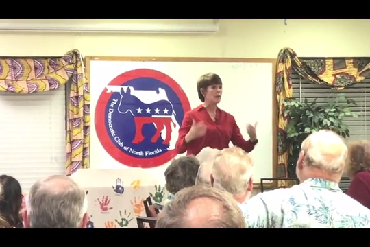Gwen Graham talks like a candidate. It's just not clear which office she's running for. While she decides she steps up her criticism of GOP policies