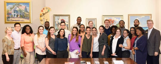 Members of the Florida State University College of Medicine Fort Pierce Regional Campus' Class of 2021 recently visited the A.E. Backus Museum in Fort Pierce to participate in a special Dean's Rounds program exploring the connections between the arts, health care and wellness.