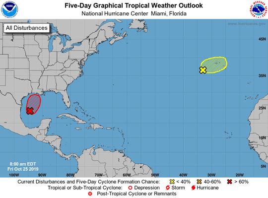 Tropics 8 a.m. Oct. 25, 2019