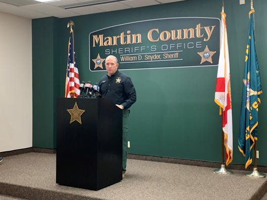 Martin County Sheriff Will Snyder at a press conference Friday Oct. 25, 2019 about the fentanyl increase in Martin County.
