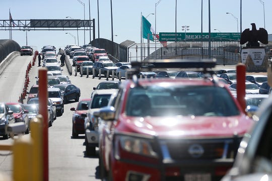 U.S. Customs and Border Protection Bridge of the Americas Port of Entry Friday, Oct. 25, in El Paso.