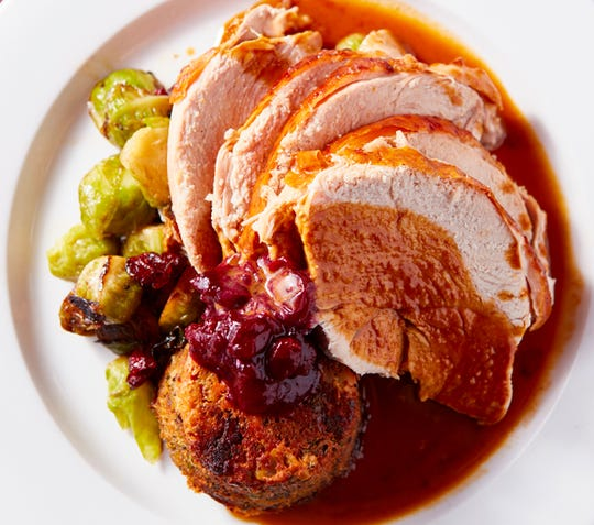 Traditional turkey dinner is served at Moderne Barn in Armonk.