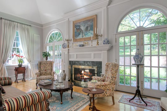 Custom built Georgian Colonial in Upper Nyack is on the market.