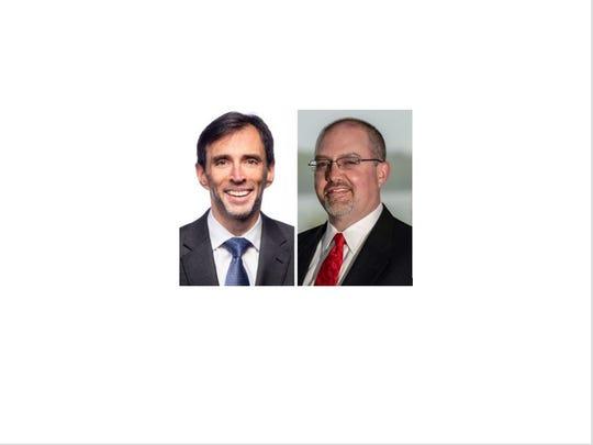 Incumbent Democrat Noam Bramson, left, faces GOP challenger Brendan Conroy in the 2019 race for New Rochelle mayor.