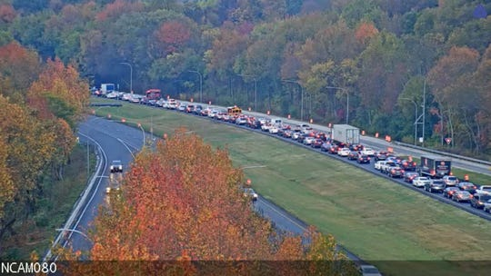 A crash Friday morning has closed I-95 south, south of Harvey Road, according to DelDOT.
