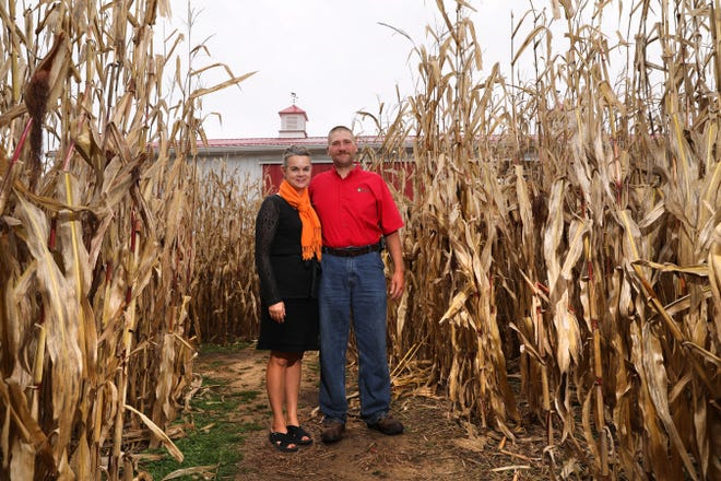 James and Susan McDonald own and operate McDonald's Greenhouse and Corn Maze on Adamsville Road. The childhood friends grew up just 47 fence posts apart. Today they live and raise their family in between those 47 fence posts.