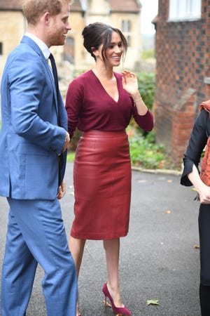 Duchess Meghan and Prince Harry attend a roundtable discussion on gender equality together.