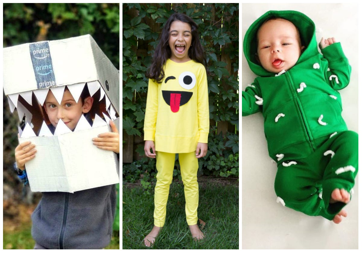 Easy last,minute Halloween costumes for kids and babies